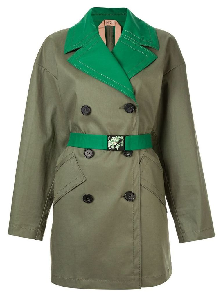 Nº21 double breasted trench - Green