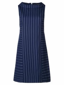 Alice+Olivia contrasting stripes short dress - Blue