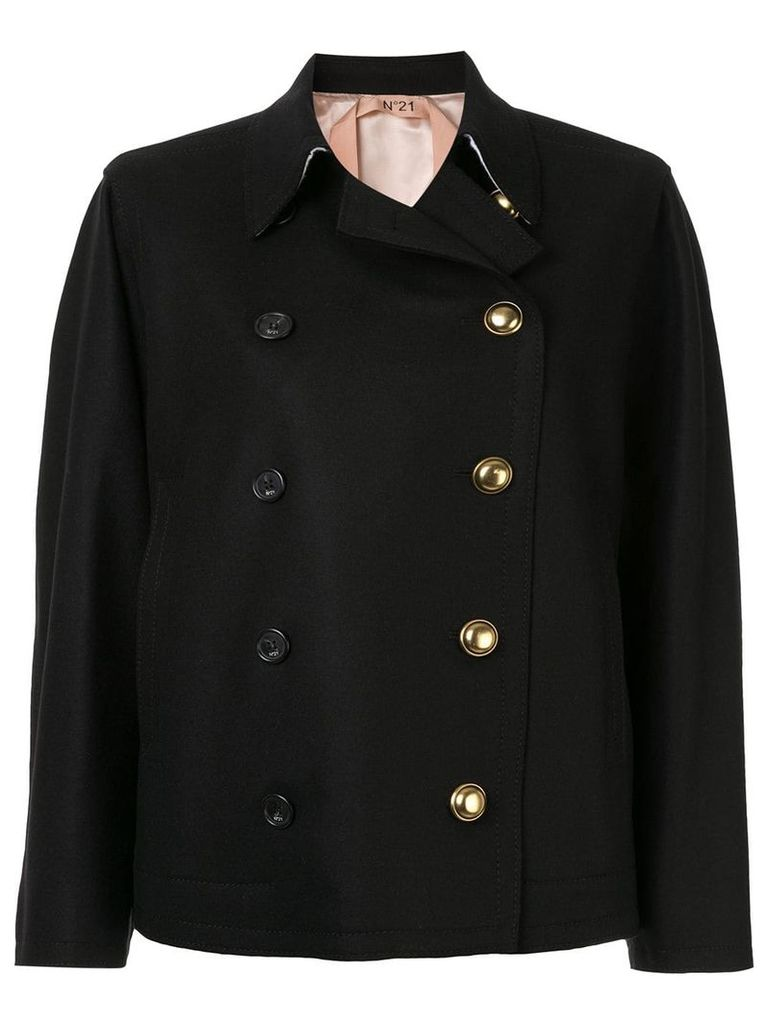 Nº21 double breasted coat - Black