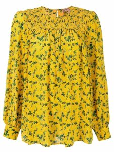 Nº21 floral printed top - Yellow