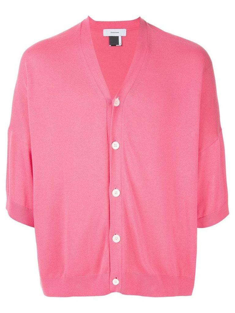 Facetasm cropped loose cardigan - Pink