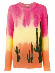 Miu Miu intarsia cactus sweater - Red
