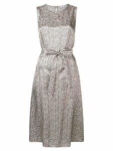 Peserico sleeveless check print dress - Black