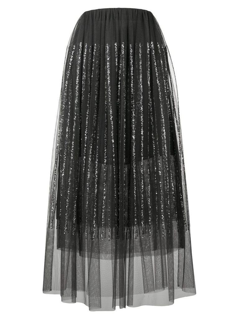 Brunello Cucinelli sequin-embellished midi skirt - Black