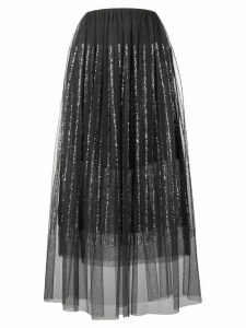 Brunello Cucinelli sequin-embellished midi skirt - Black