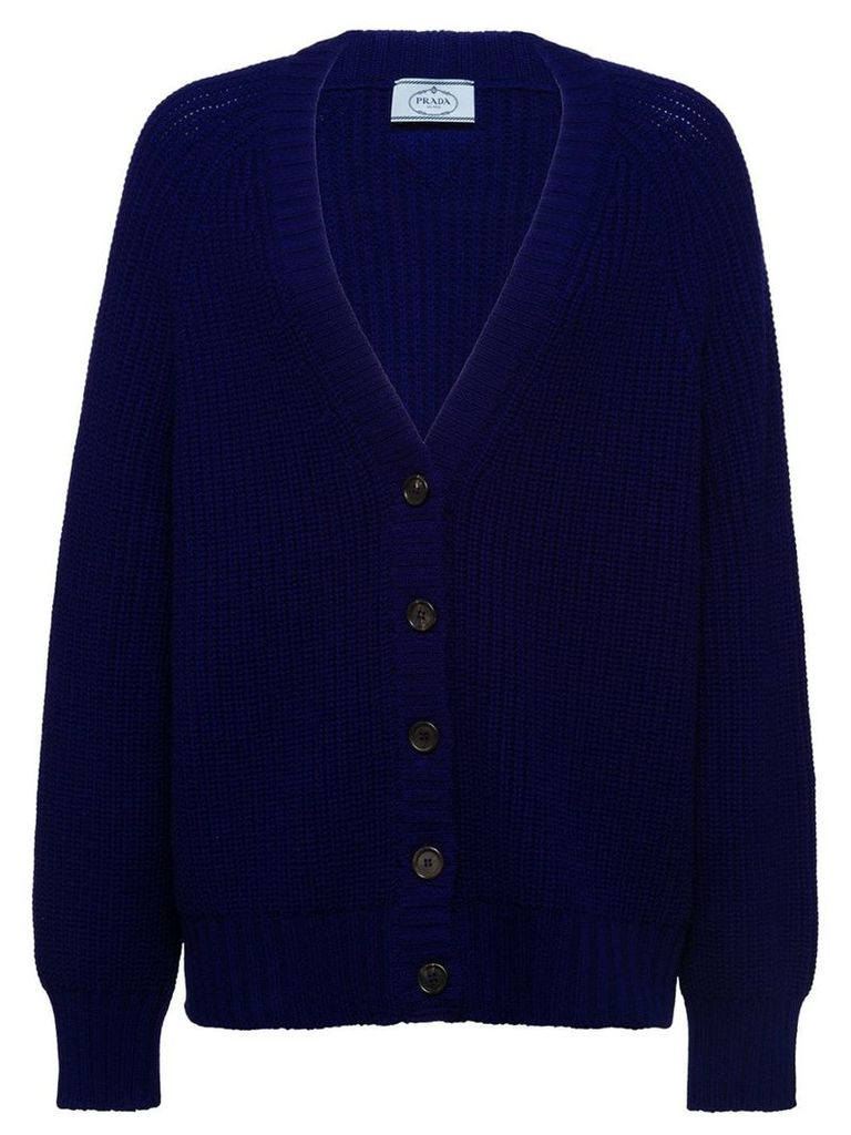 Prada Wool and cashmere cardigan - Blue