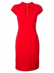 Alice+Olivia fitted v-neck midi dress - Red