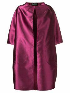Gianluca Capannolo satin cocoon coat - Pink