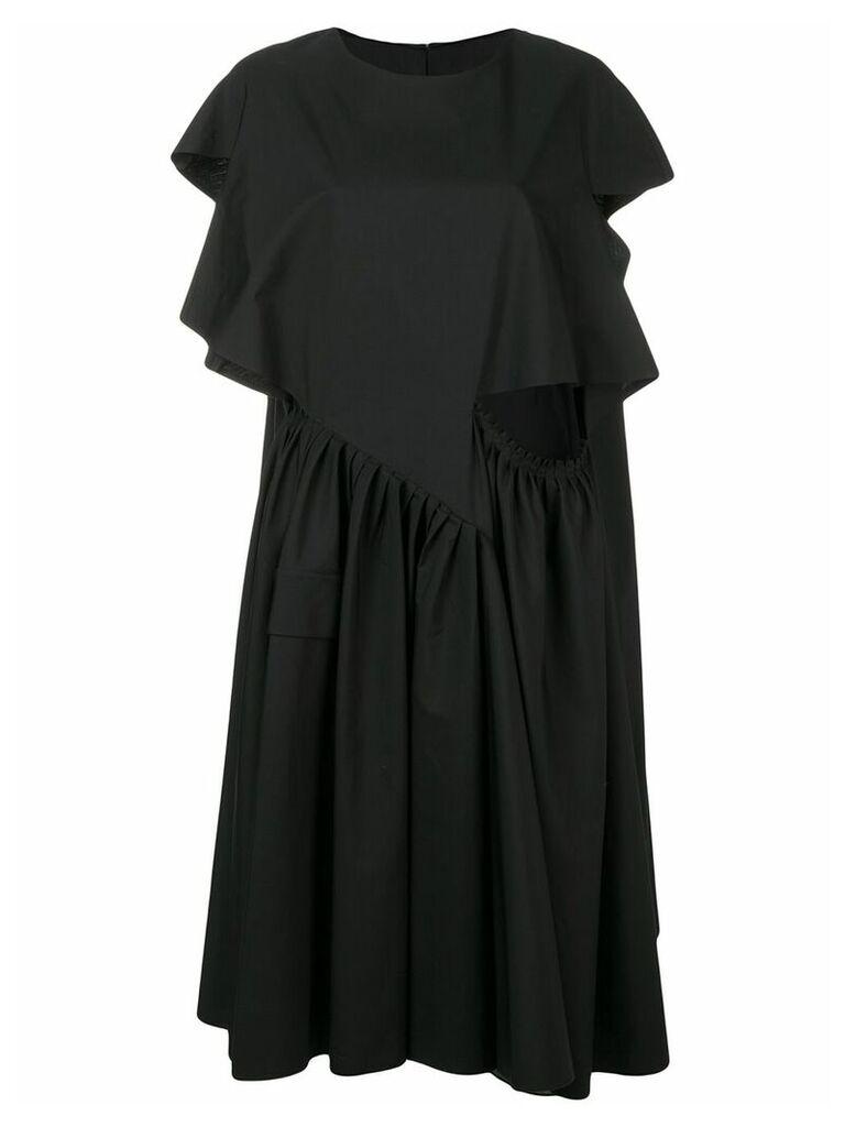 Maison Margiela ruffled asymmetric dress - Black