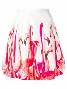 Sara Roka flamingo skirt - White