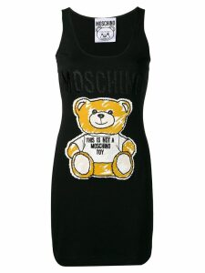 Moschino Sketch Bear tank dress - Black