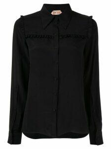 Nº21 ruffle panel blouse - Black