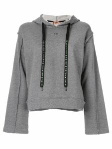 Nº21 embellished drawstring hoodie - Grey