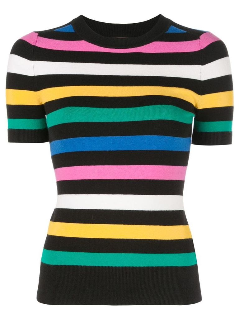 JoosTricot striped knitted top - Black