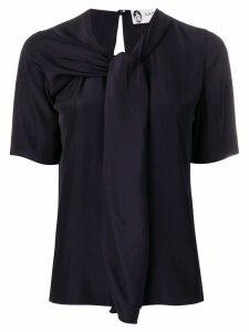 Lanvin scarf-neck blouse - Black