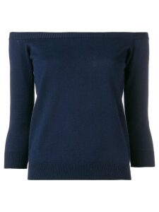 Roberto Collina off-the-shoulder top - Blue