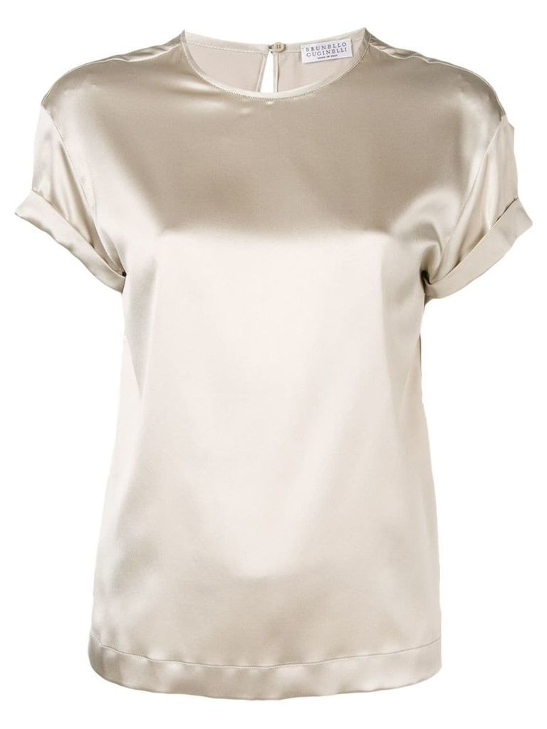 Brunello Cucinelli brass-embellished blouse - Grey