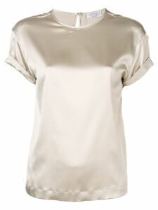 Brunello Cucinelli brass-embellished blouse - Grey