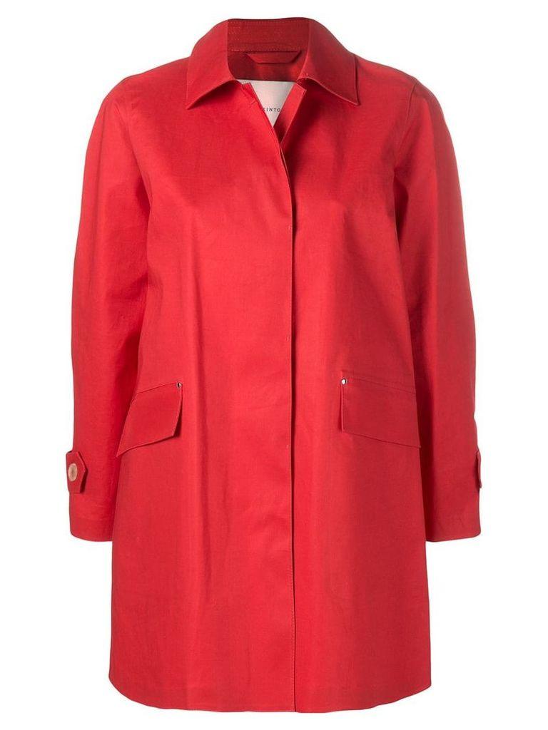 Mackintosh Berry Red Bonded Cotton Coat LR-094