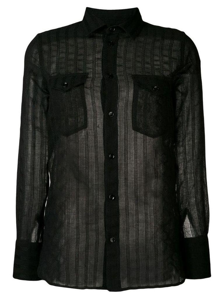 Saint Laurent sheer classic shirt - Black