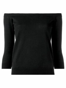 Roberto Collina off-the-shoulder top - Black