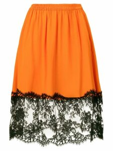 MSGM lace panel skirt - Orange