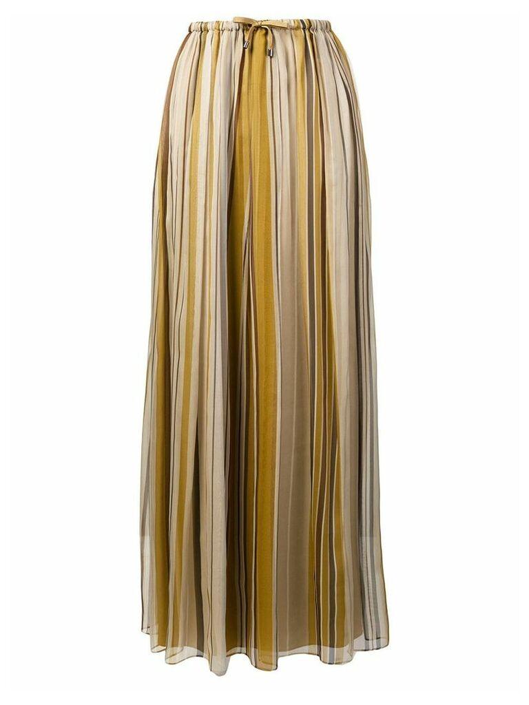 Brunello Cucinelli striped straight skirt - Neutrals