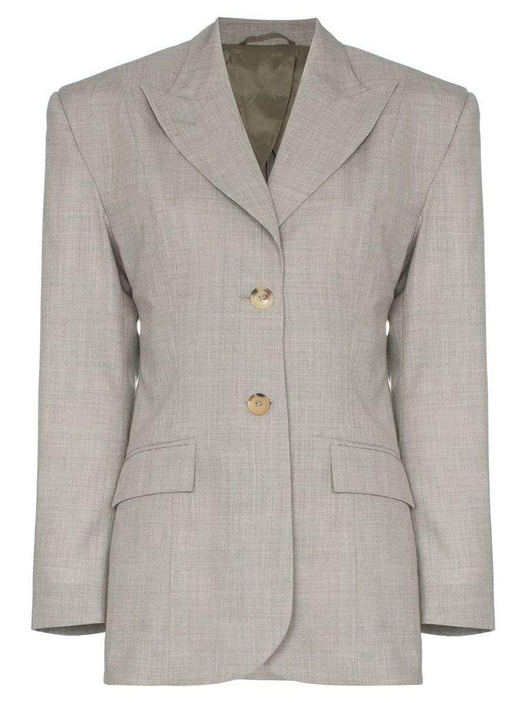 Wright Le Chapelain single-breasted tailored blazer - Grey