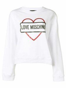 Love Moschino logo print sweatshirt - White