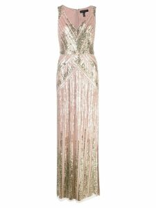 Aidan Mattox sequin embroidered gown - Pink