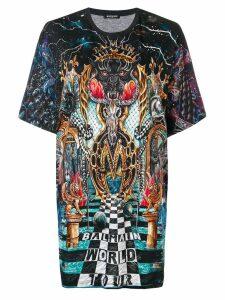 Balmain World Tour printed T-shirt - Grey