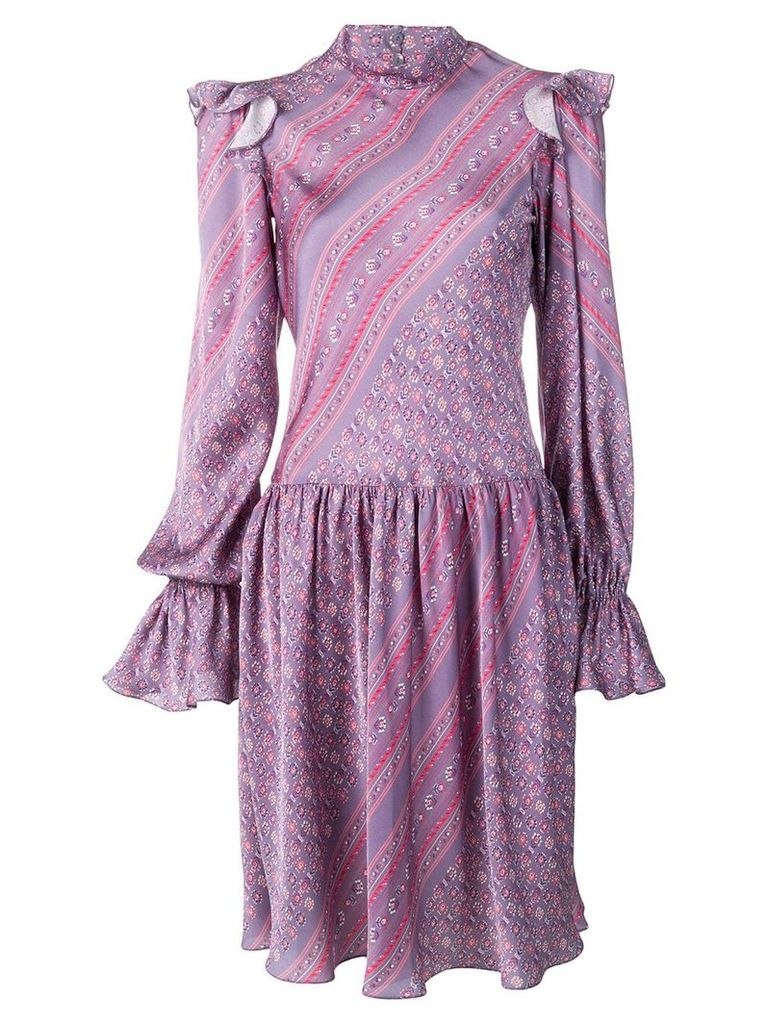 Philosophy Di Lorenzo Serafini long-sleeve printed dress - Purple