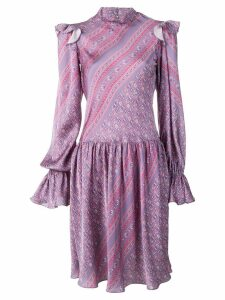 Philosophy Di Lorenzo Serafini long-sleeve printed dress - Purple