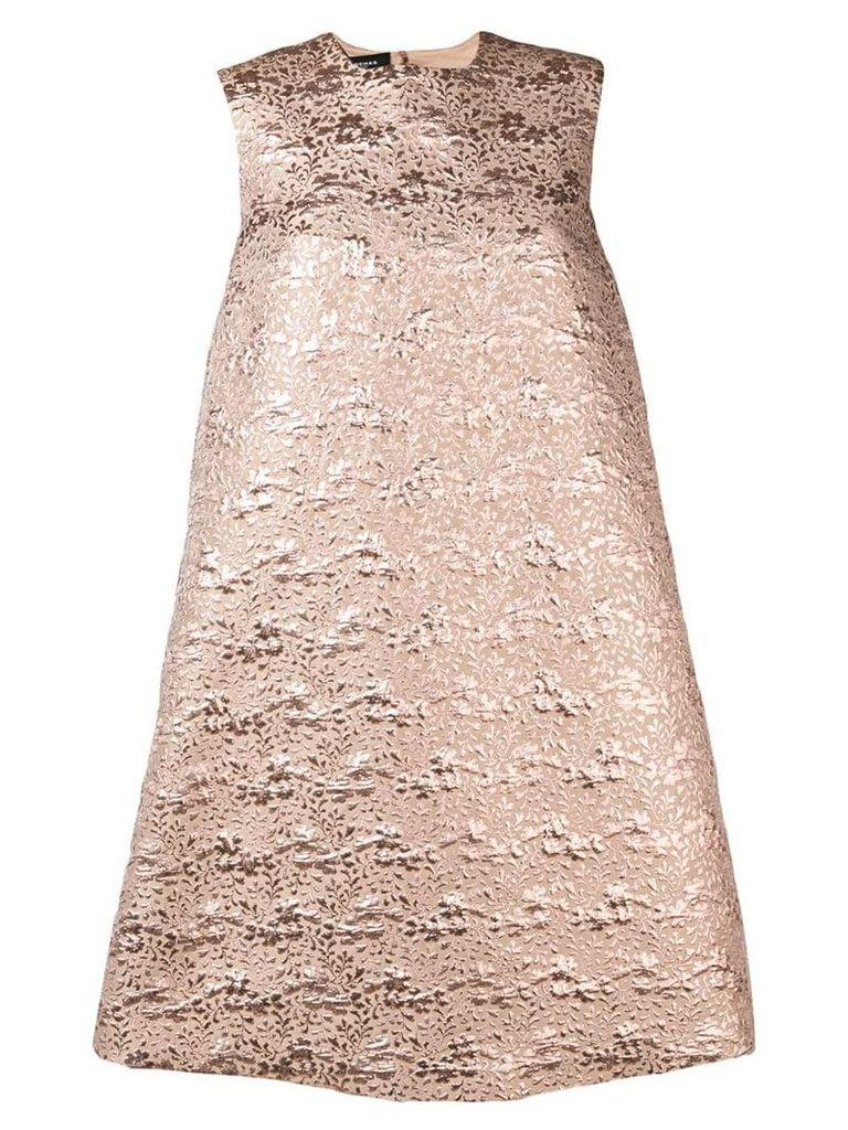 Rochas A-line jacquard dress - Neutrals