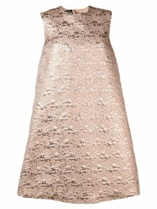Rochas A-line jacquard dress - Neutrals