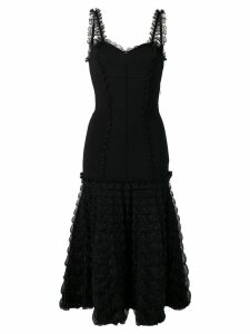 Alexander McQueen frill detail dress - Black