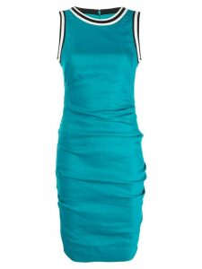 Nicole Miller contrast-trim fitted dress - Blue