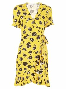 Dvf Diane Von Furstenberg floral print short dress - Yellow