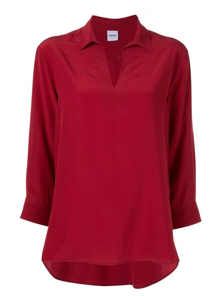 Aspesi v-neck blouse - Red