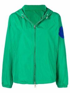 Moncler logo patch windbreaker jacket - Green