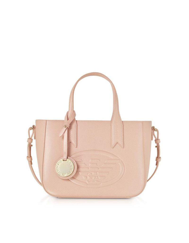 Emporio Armani Designer Handbags, Small Embossed Eco Leather Tote Bag