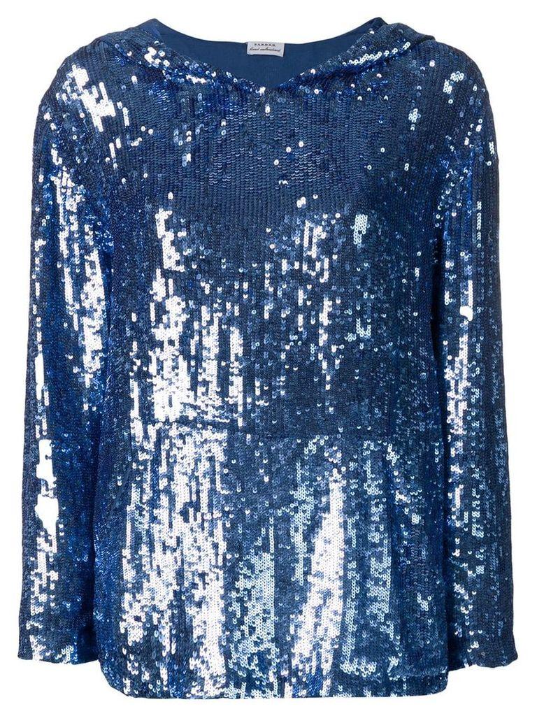 P.A.R.O.S.H. sequin hoodie - Blue