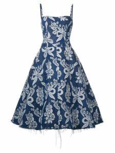 Junya Watanabe floral jacquard dress - Blue
