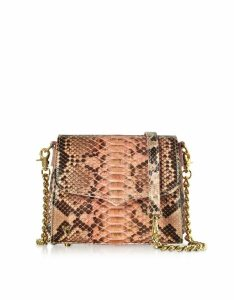 Ghibli Designer Handbags, Python Leather Small Shoulder Bag