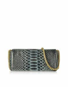 Ghibli Designer Handbags, Python Leather Mini Shoulder Bag