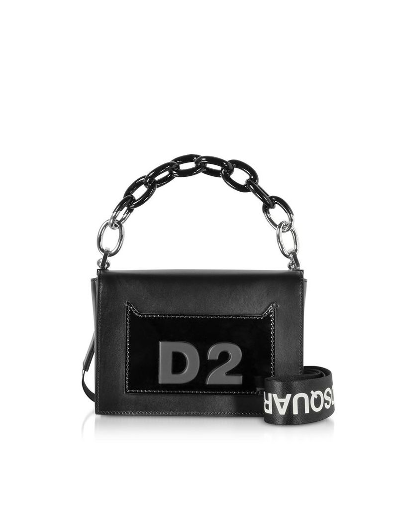 DSquared2 Designer Handbags, DD Small Smooth and Patent Leather Bag