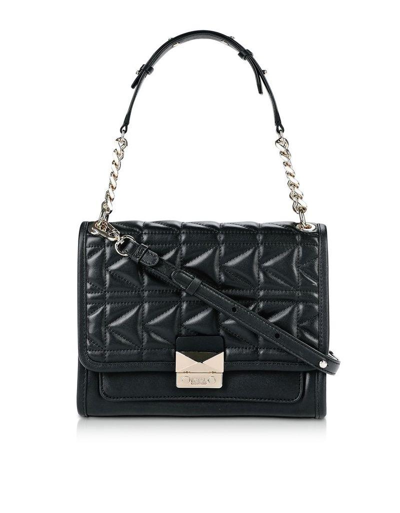 Karl Lagerfeld Designer Handbags, K/Kuilted Leather Shoulder Bag