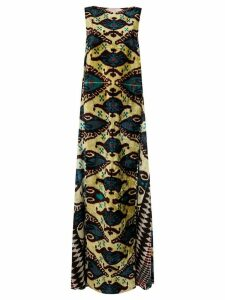 Afroditi Hera Ikat long dress - Green