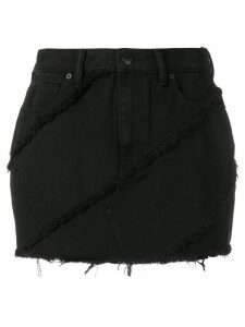 T By Alexander Wang frayed denim skirt - Black