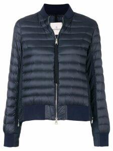 Moncler padded panelled bomber jacket - Blue